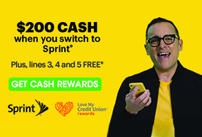 $200 cash when you switch to Sprint* PlusLines 3, 4 and 5 FREE* Get Cash Rewards